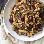 Rainbow Chard Recipe with Penne and Goat Cheese White Wine Sauce {Gluten Free}