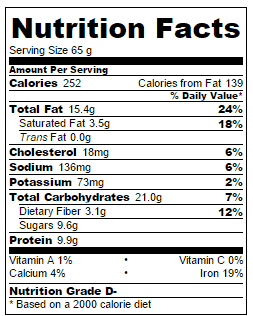 Oatmeal-breakfast-bar-nutrition-info