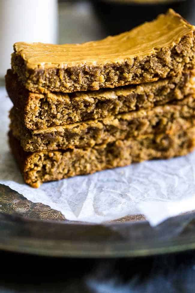 Simple Protein Bar Recipe- 5 ingredients, one bowl and 20 minutes is all you need to make these soft and chewy bars! The a healthy, portable snack! | Foodfaithfitness.com | @FoodFaithFit