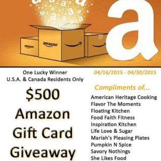 $500 Amazon Gift Card Giveaway! | Foodfaithfitness.com | @FoodFaithFit