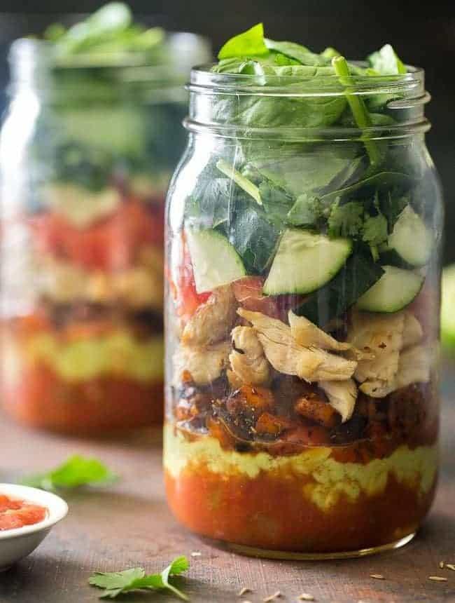 Taco Mason Jar Salad Recipe Food Faith Fitness