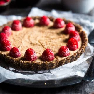No-Bake Chocolate Tart with Almond Cream and Raspberries {Super Simple}