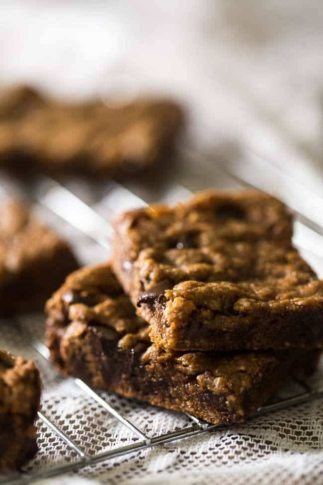 Crock Pot Paleo Cookies with Chocolate Chips – Let the crock pot do the work for you with these cookies that are loaded with gooey chocolate! An easy, healthy, grain-free treat! | Foodfaithfitness.com | @FoodFaithFit