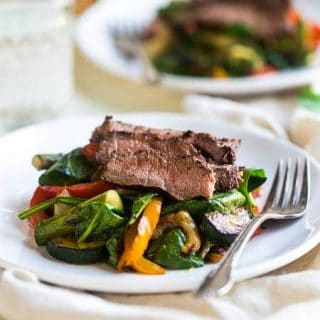 Paleo Grilled Beef Stir Fry with Asian Almond Dressing {Super Simple}