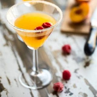 Peach Martini with Raspberry {Super Simple}