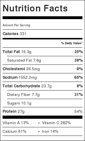 cauliflower-crust-nutrition-information