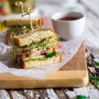 Mexican Avocado Spread Sandwiches with Sprouts {Gluten Free} + Back-To-School Healthy Meal Ideas