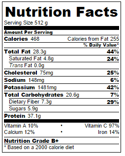 cauliflower-rice-nutritional-information