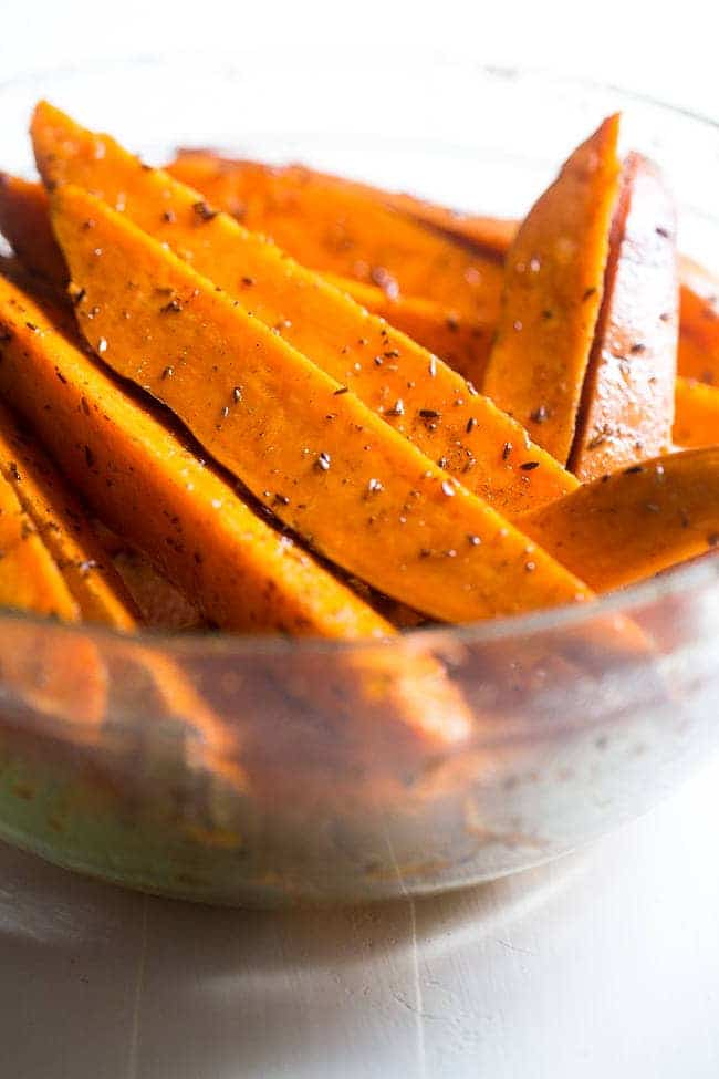Maple Tahini Grilled Sweet Potatoes - Grilled sweet potatoes are dipped into a creamy, sweet dip of maple syrup and tahini for an easy, paleo and vegan friendly side dish. A perfect, healthy summer side dish! | FoodFaithfitness.com | @FoodFaithFit
