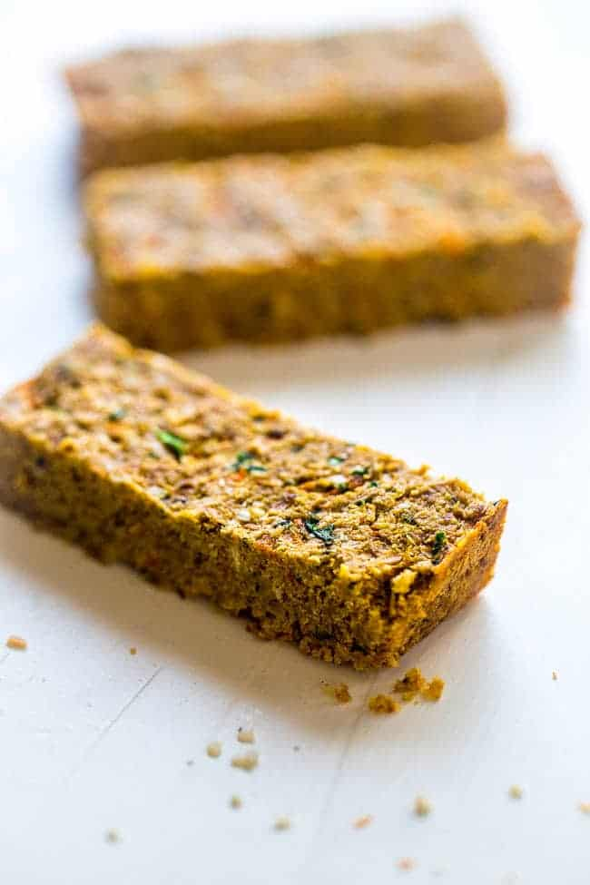 Vegan Hidden Veggie Coconut Almond Homemade Protein Bars - You would never know this healthy snack, or portable breakfast, is secretly healthy, packed with vegetables and is vegan friendly! | Foodfaithfitness.com | @FoodFaithFit
