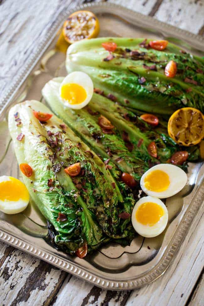 BLT Grilled Wedge Salads with Lemon Dill Vinaigrette - Grilled romaine ...