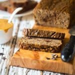 Paleo Banana Bread with Chocolate and Almond Butter