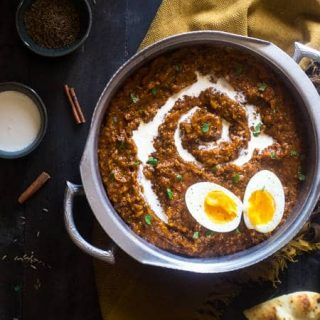 Coconut Slow Cooker Curry with Pumpkin, Quinoa and Eggs