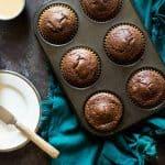 Paleo Chocolate Muffins with Tahini