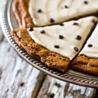 Paleo Cookies Pizza with Cashew Cream