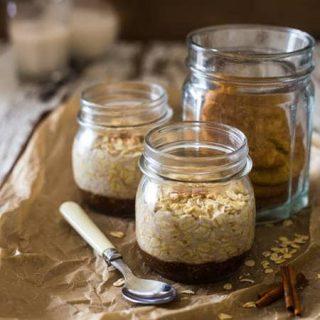 Snickerdoodle Vegan Overnight Oats {Gluten Free + 6 Ingredients}