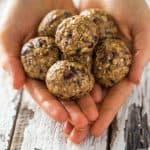 Cranberry, Maple and Vanilla Energy Balls - Made in 5 minutes and use only 4 ingredients! They're an easy, gluten free, healthy and vegan snack or breakfast! | Foodfaithfitness.com | @FoodFaithFit