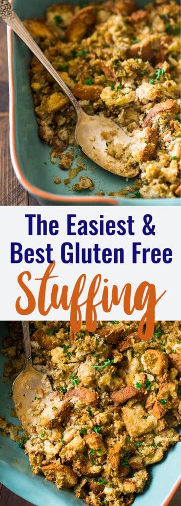 Easy Gluten Free Stuffing collage photo