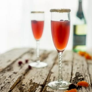Orange Cranberry Cocktail with Champagne
