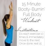 15 minute Booty Burning Full Body At Home Workout