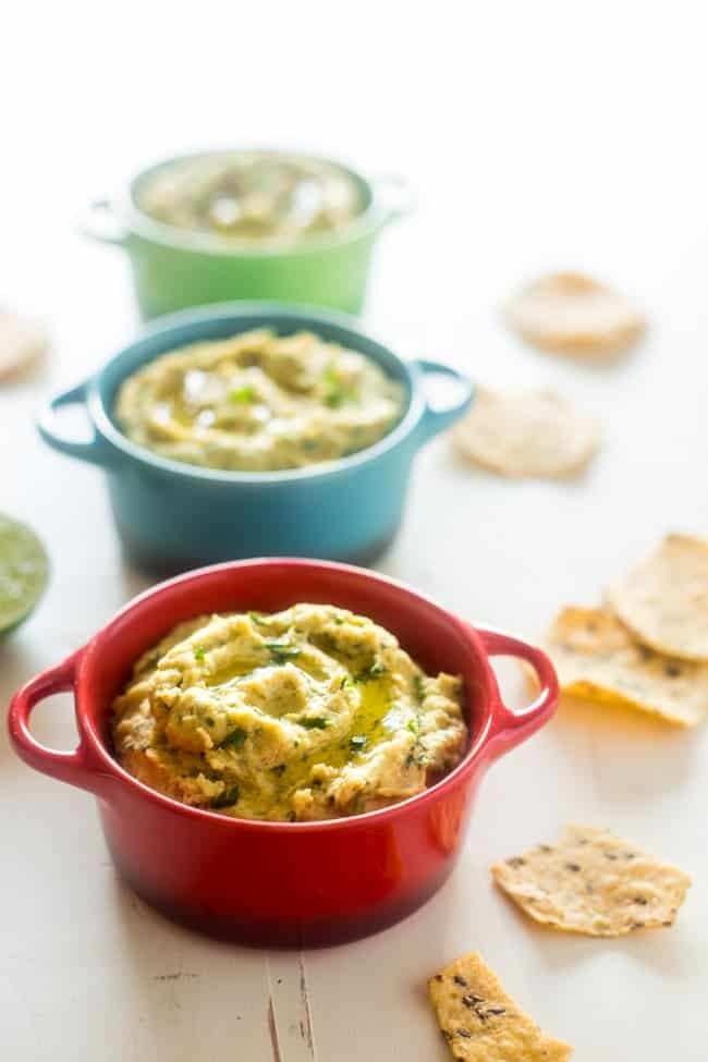 Vegan Mexican Lentil Hummus - This spicy homemade hummus uses a lentils instead of chickpeas! It's super easy, creamy and vegan friendly! Perfect for healthy snacking, or game day! | Foodfaithfitness.com | @FoodFaithFit