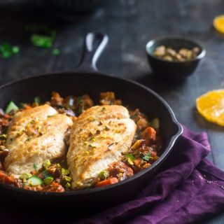 Moroccan Chicken Skillet + Paleo 30 Minute Meals + a VIDEO {Whole30 + Super Simple}