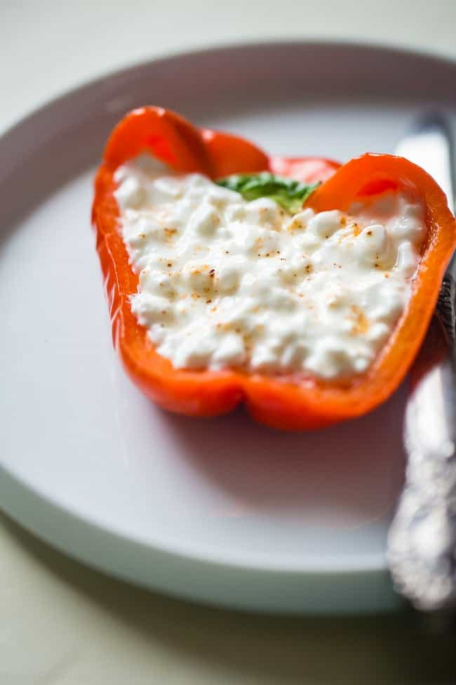 5 Three-Ingredient or Less Snack Recipes with Peppers - A list of 5 healthy snack recipes that feature avocado and have 3 ingredients or less! A great resource to find easy, simple snack ideas in one place! | Foodfaithfitness.com | @FoodFaithFit