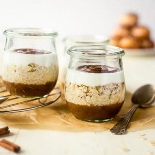 Gluten Free Cinnamon Roll Overnight Oats