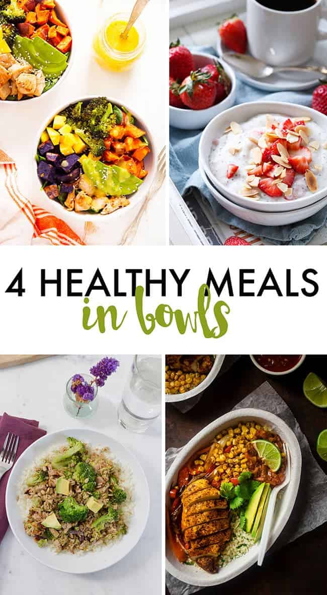 Paleo Chipotle Chicken Burrito Bowls + 3 Healthy Bowl Meals | Foodfaithfitness.com | @FoodFaithFit