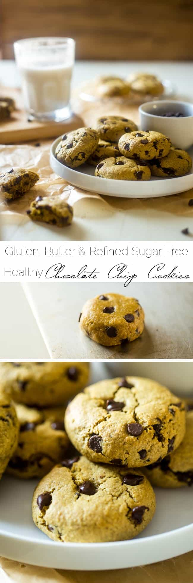 Healthy Gluten Free Chocolate Chip Cookies | Food Faith Fitness