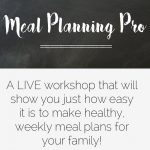The Meal Planning Pro Live Workshop!