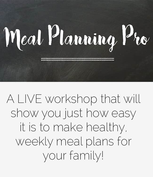The Meal Planning Pro Live Workshop - A live, 3.5 hour workshop that will teach you how to create healthy weekly meal plans! | Foodfaithfitness.com | @FoodFaithFit