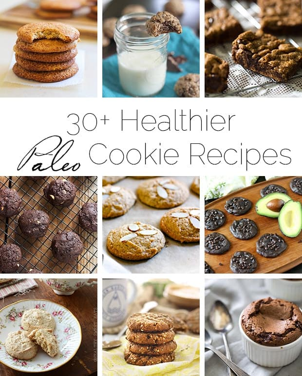 30+ Healthier Paleo Cookie Recipes - A roundup of a TON of delicious, gluten and grain free cookies in one place! | Foodfaithfitness.com | @FoodFaithFit