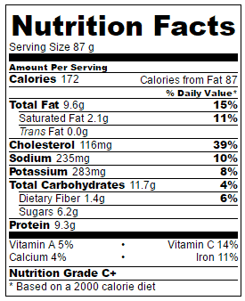 Egg-Mufffins-nutritional-information