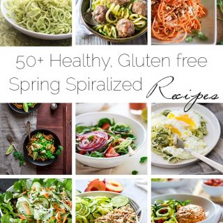 50+ Healthy, Gluten Free Spring-Time Spiralized Recipes