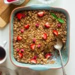 Strawberry French Toast Bake with Rhubarb