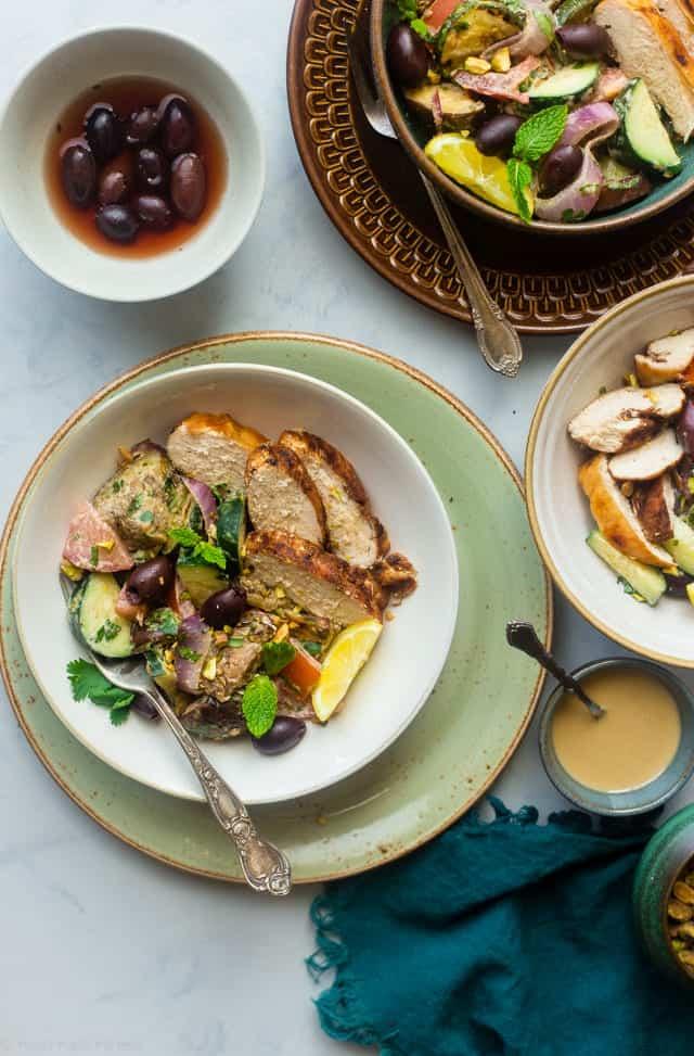 Paleo Grilled Moroccan Chicken Bowls