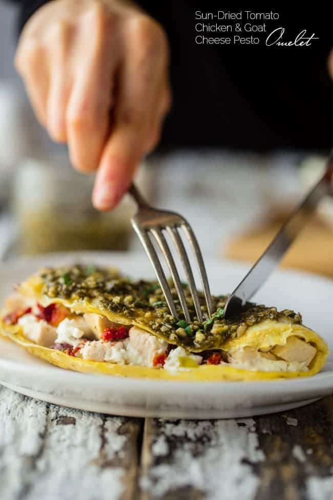 Pesto egg white omelette food faith fitness pesto chicken egg white omelette with goat cheese this quick and easy protein packed forumfinder Images