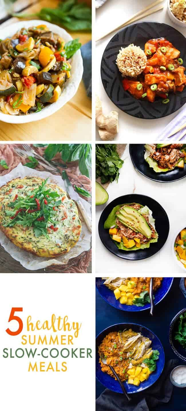 Slow Cooker Mango Chicken and Sweet Potato Bowls on Food Faith Fitness - A healthy, Whole30 compliant weeknight dinner!