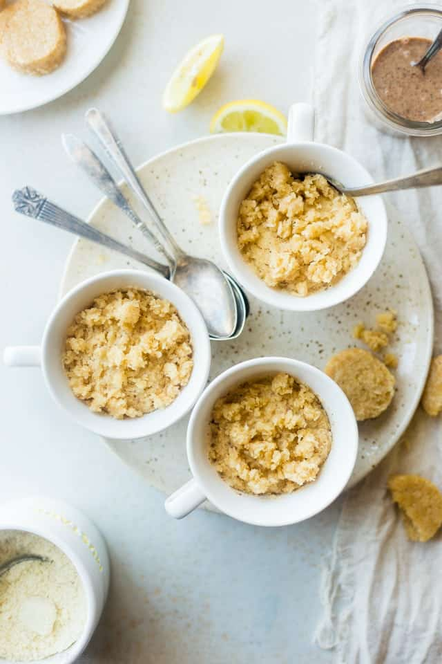 Vegan Coconut Flour Mug Cake with Lemon | Food Faith Fitness