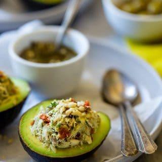 Healthy Tuna Salad Stuffed Avocados