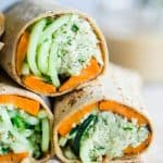 Mint Grilled Sweet Potatoes with Tahini Cauliflower Rice Wrap