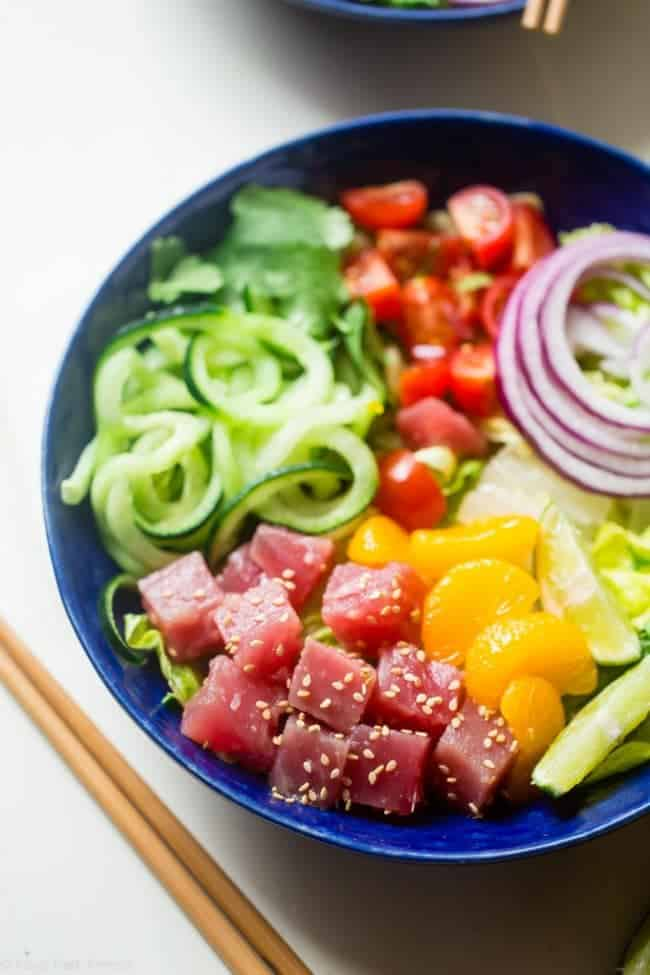 Citrus Tuna Ceviche Bowls Food Faith Fitness