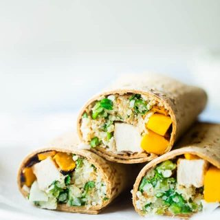 Grilled Mango Chicken Cauliflower Rice Wrap