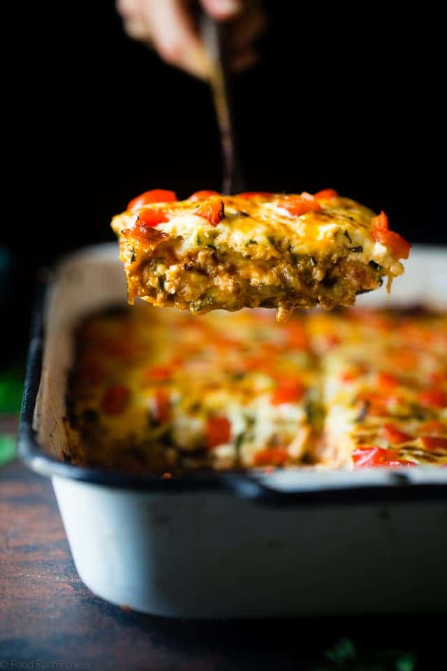 Mexican Zucchini Lasagna   Food Faith Fitness