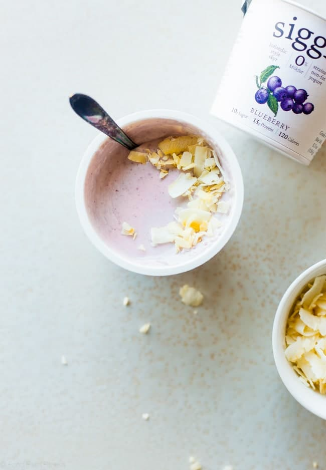 3 Life Changing Ways to Top Your Yogurt - Think a cup of yogurt is boring? Think again! These simple, healthy combinations will make eating yogurt your new favorite, protein-packed snack! | Foodfaithfitness.com | @FoodFaithFit