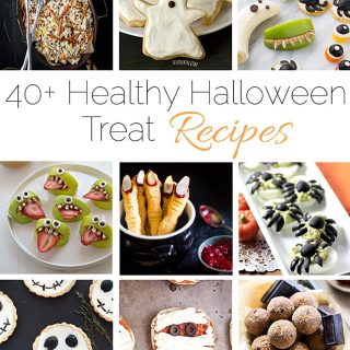 40+ Healthier Halloween Treat Recipes - A collection of over 40 healthier Halloween treat recipes in one place! | Foodfaithfitness.com | @FoodFaithFit