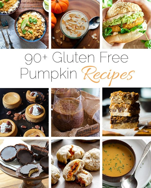 90+ Healthy Gluten Free Pumpkin Recipes - A collection of over 90 healthy, gluten free pumpkin recipes from breakfast to dessert!   Foodfaithfitness.com   @FoodFaithFit