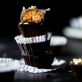 Pumpkin Edible Cookie Dough Cups with Kettle Corn