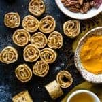 Vegan Healthy Pumpkin Pie Pinwheel Bites
